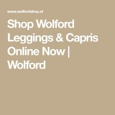 Shop Wolford Leggings & Capris Online Now | Wolford