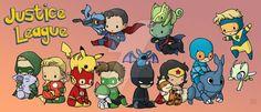 Justice League Pokemon by DeanGrayson