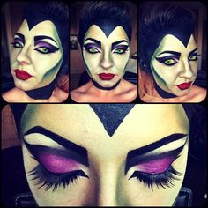Maleficent makeup by Zoe Butterworth