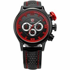 56d37196c10 Relógio Red SHARK Fashion Military Mens por R  230