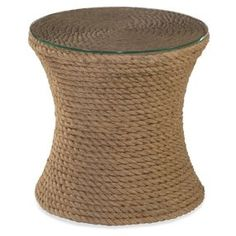 """Olivia 18"""" Woven Side Table, Rope"""