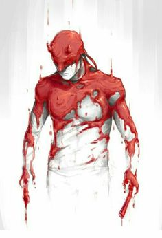 Matt Murdock is definitely covered in ketchup<< lol that would be funny but I'm almost certain it is red wax Marvel Vs, Marvel Comics, Marvel Heroes, Comic Book Characters, Marvel Characters, Comic Character, Comic Books Art, Comic Sans, Daredevil Elektra