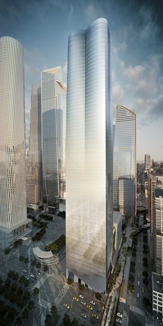 First residential tower underway at Hudson Yards. [Future Architecture: http://futuristicnews.com/category/future-architecture/]