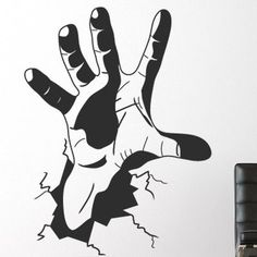 Style and Apply The Hand Wall Decal