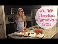 Meal Prep Video: 10 Ingredients, 6 Types of Meals for $35 + NUTRITION EBOOK SALE | Lauren Gleisberg | Happiness, Health, & Fitness