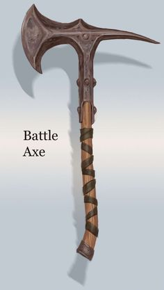 Iron Battle Axe concept art from The Elder Scrolls V: Skyrim by Adam Adamowicz