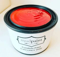 Wine Furniture, Vintage Furniture, Red Painted Furniture, Burgundy Paint, Paint Fireplace, Weathered Wood, Pottery Barn, Paint Colors, Clay
