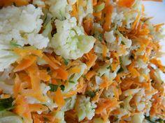 Salada de Couve flor com Cenoura