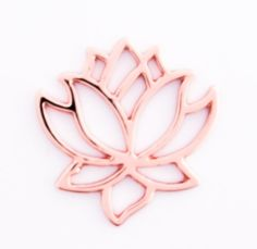 2 pcs 22mm 16mm Rose Gold Plated Lotus by FancyGemsandFindings, $4.90 Rose Gold Plates, Lotus, Plating, Letters, Lotus Flower, Letter, Fonts, Lily, Calligraphy