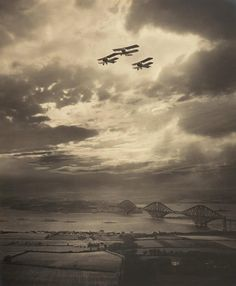 The Forth Bridge, about 1920, Alfred G Buckham.
