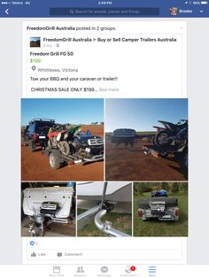 Mount BBQ to caravan Camper Trailer Australia, Caravan Ideas, Search People, Camper Trailers, Christmas Sale, Bbq, Barbecue, Barbecue Pit, Camper