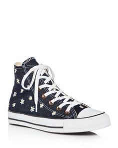 CONVERSE Women'S Chuck Taylor All Star Embroidered Denim High Top Sneakers. #converse #shoes #sneakers