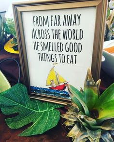 """Good things to eat. """"A Wild One"""" Where the Wild Things Are First Birthday Party"""