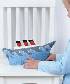 Sew an ocean liner    Sew and embroider an impressive shipshape soft toy