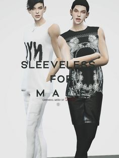 Sleeveless top for males at Black-le via Sims 4 Updates  Check more at http://sims4updates.net/clothing/sleeveless-top-for-males-at-black-le/