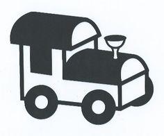 Cartoon train silhouette by hilemanhouse on Etsy, $1.99