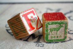 Vintage block drawer knobs!! For the babies nursery??? $16