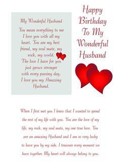 Bday Wishes For Husband, Happy Birthday Fiance, 40th Birthday Messages, Birthday Message For Husband, Love Birthday Quotes, Romantic Birthday Wishes, Happy Birthday Best Friend Quotes, Birthday Verses, Birthday Text