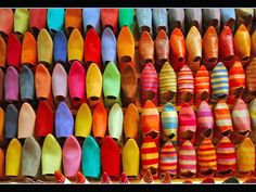 Maroccan Slippers at the Market