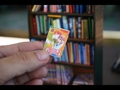 DIY Miniature book and Manga Tutorial - Nendoroid, Dolls and Action Figures - YouTube