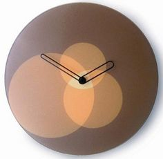 'mustard circles' wall clock from joseph joseph, uk