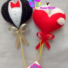 #felt #heart #wedding #gift #cute #royayenamadi #قلب #نمدی #زیبا