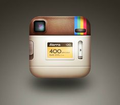 Backside of Instagram Icon