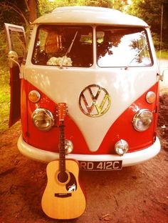 Two of my favorite things! A volkswagen and a guitar :)