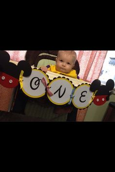 Mickey Mouse club house high chair age birthday by WinnJDesigns