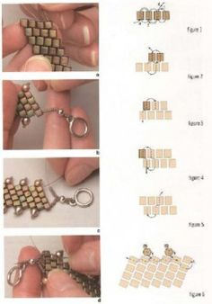 Schema for this bracelet and several others. Russian site but little verbiage. #Seed #Bead #Tutorials