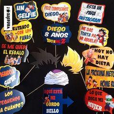Props al estilo de Dragon ball!! #props#photobooth#propsphotobooth#dragonballz#dragonball#goku#party#vanedecor#valencia#Venezuela