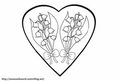 1000 images about muguet on pinterest lily of the - Coloriage muguet ...