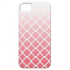 Pink Fade Quatrefoil iPhone Case iPhone 5 Case