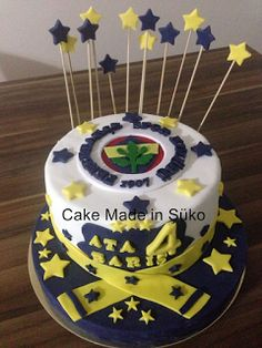 Cake Made in Şüko: Fenerbahçe concept birthday cake Easy Cake Recipes, How To Make Cake, Donuts, Fondant, Food And Drink, Birthday Cake, Concept, Desserts, Pony