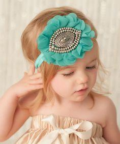 Look what I found on #zulily! My Sunshine Shoppe Teal Gemstone Aria Headband by My Sunshine Shoppe #zulilyfinds