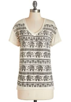 Feeling Elephant-astic Tee. Finding a blissful state of mind is an easy tusk when youre clad in this cheerful graphic tee!  #modcloth