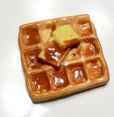 Waffle Magnet Polymer Clay Magnet Food Decor by GuiltfreeDecadence, $10.00
