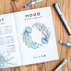 Falling into a bad mood can happen quickly and last all day if you aren't careful — but there is a good way to focus on getting out of that funk by using a bullet journal mood tracker! A mood tracker will help you focus on your attitude so you[. Bullet Journal Tracker, Bullet Journal School, Self Care Bullet Journal, Bullet Journal Notebook, Bullet Journal Aesthetic, Bullet Journal Spread, Bullet Journal Inspiration, Bullet Journals, Kalender Design