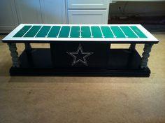 Nfl dallas cowboys football blue self stick wall border for Football coffee table