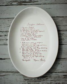 "16x12"" large oval custom recipe platter www.artsmithshop.com"