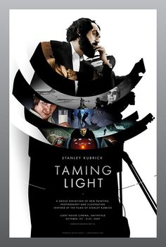 Stanley Kubrick Poster: Wow, this is great poster that moves far away from the vintage/minimalist theme lately.