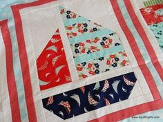 Snapshots: Sail Boat Quilt Block | A Quilting Life | Bloglovin'