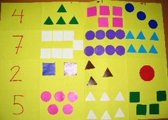 Craft with counting and numbers Numbers Preschool, Learning Numbers, Math Games, Math Activities, Number Crafts, Math Boards, More And Less, Homeschool Math, Kindergarten Math