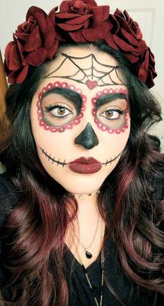 64 Ideas makeup halloween couple sugar skull Source by Ideas Maquillaje Halloween, Cute Halloween Makeup, Up Halloween, Couple Halloween, Sugar Skull Halloween, Vintage Halloween, Halloween Costumes, Sugar Skull Costume, Sugar Skull Makeup