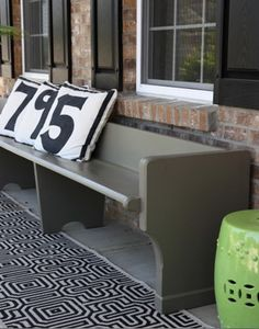 Church pews on my front porch... this is a major dream of mine! I have been searching for pews forever. there is one at a local cafe, not for sale. 2 at an independent post office, not for sale. Im still hunting.