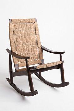 Urban Outfitters  Woven Rocker Chair