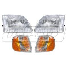 1998 - 2000 Ford F150 Truck Headlight & Parking Light (Set of 4 )