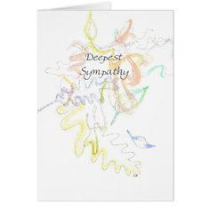 """Deepest"" Sympathy Card - watercolor gifts style unique ideas diy"