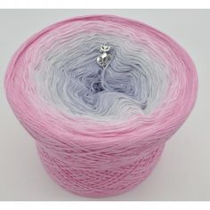 gradien yarn, color spreading yarns, Farbverlaufsgarn - Pretty Lady - pink outside - 4 ply, 4 colors: steel, light gray, baby pink, Pink.
