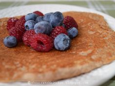 Apple Sauce Pancake with Berries